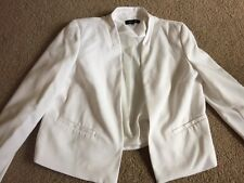 NEW LOOK White Crop Jacket Sz 12 Lined Never worn