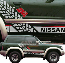 Stickers off-road 4x4 - NISSAN PATROL - Sticker Kit SIDES Racing