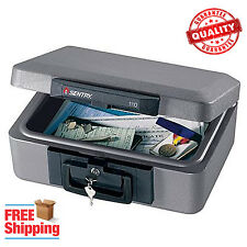 Fire Proof Safe Box Chest Lock Protection File Key Cash Gun Security Documents