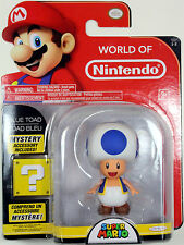 World of Nintendo ~ TOAD Action Figure ~ Super Mario Brothers (Bros.)