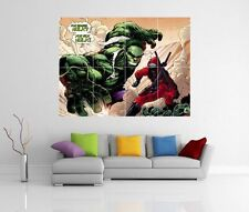 HULK V DEADPOOL MARVEL GIANT WALL ART PICTURE PRINT POSTER G105
