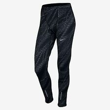 NIKE POWER TECH GRAPHIC RUNNING TIGHTS BLACK,GREY 800649-010 MENS SIZE SMALL