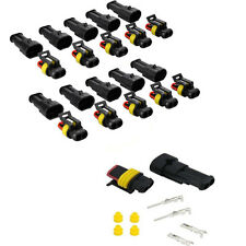 10 set 2-pin type waterproof connector for automotive electrical connectors