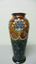 GORGEOUS DOULTON LAMBETH ART NOUVEAU ART POTTERY VASE, 1902-1922