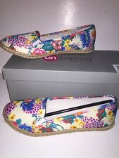 """UNLEASHED by ROCKET DOG Women's """"CICLY"""" Espadrille Flats WHITE FLORAL 8M NEW Box"""