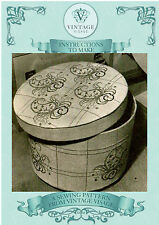 Sewing instructions-How to make 1930s hat box &paisley cross stitch design chart