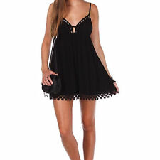 LF Style baby doll blacl and white dress with crochet lace trimmed NWT Sz AU 6/8