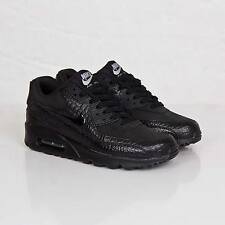 Nike Air Max 90 Black Croc Patent Trainer 443817 003 Size 8.5 UK