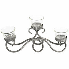 Antico Arch 3 CANDELA VETRO Tealight Holder Candelabri Vintage Rustico Design