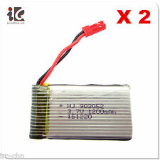 2X 3.7V 1200MAH Li-Po BATTERY FOR VIEFLY VG555 702 RC HELICOPTER SPARE 702 -20