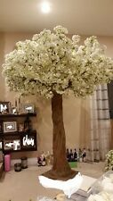 8 ft tall 5ft wide artificial WHITE Cherry Blossom Flower Tree