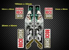Rock Shox BOXXER 2013 Suspension Fork bike Decal/Stickers rx72