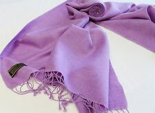 H38 NWT Solid Lavender Color  Pashmina Silk Shawl/ Wrap Handmade In Nepal