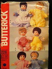 "Butterick Clothes  Pattern for 16"" Doll Baby Toddler Boy Girl"