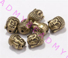 20pcs Metal Charms Sliver Golden Bronze Buddha Head Spacer Beads 10x8mm