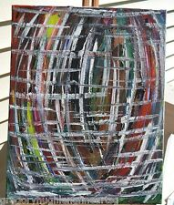 "GREGORY HUGH LENG   ""Basket of Colors""   ORIGINAL FINE ART  Jackson Pollock"