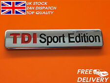 1x NEW TDI Sport Edition Badge Emblem Logo Sticker VW AUDI CP19
