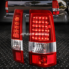 RED LENS CHROME HOUSING LED BRAKE TAIL LIGHT FOR 03-07 CHEVY SILVERADO/SIERRA