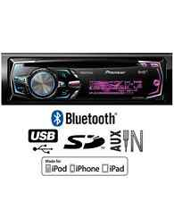 Pioneer DEH-X8500 auto estéreo, CD USB SD AUX BLUETOOTH juega iPod iPhone