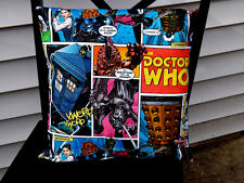 Doctor Who Comic Pillow Case Pillowcase Licensed Fabric Home Decor Gift