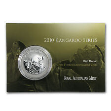 2010 1 oz Silver Australian Kangaroo Coin (In Display Card) - SKU #56902