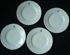 ROSENTHAL WHITE CLASSIC ROSE SANSSOUCI  with monogram 6 inch Plates x 4
