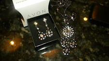 Avon Midnight Luxe Long Pendant and Earrings