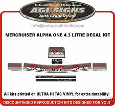 4.3 litre LX Mercury Alpha One Decal Kit Mercruiser reproduction sticker decals