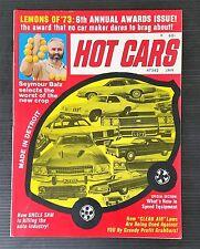 Hot Cars & High Performance Magazine Jan 1972 - Drag Racing - S/S Pro Stockers