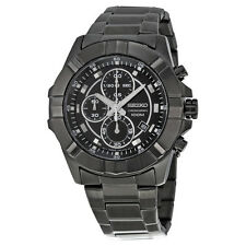 SEIKO LORD MEN CHRONOGRAPH BLACK STEEL 100M WATCH SNDD77 SNDD77P1