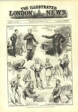 1882 Sketches During Cloture Debate In The House Of Commons