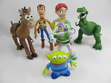Toy Story Lot of 6 Woodys Buzz Rex Jessie Alien Bulls Eye Mini Figure For Disney