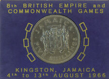 Jamaica 1966 Commonwealth Games 5 Shillings Crown Coin EF/AU in original package