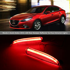 2x LED Rear Bumper Reflector Surface emission Light For Mazda 3 Axela 2014-2016