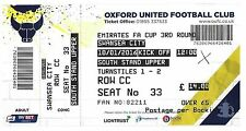 Billete De Fútbol > Oxford United v Swansea City enero 2016 Fac
