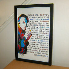Christopher Hitchens, The Hitch, Journalist, Vanity Fair, 11x17 POSTER w/COA 2