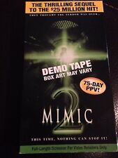 MIMIC 2 DEMO TAPE FULL LENGTH SCREENER VHS