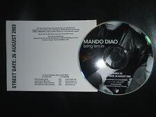 MANDO DIAO Promo Advance CD Bring 'em In PARALYZED Rock 'n' Roll Punk Garage