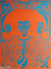 JIMI HENDRIX EXPERIENCE Tim Buckley Moby Grape Concert Poster 1967 AOR