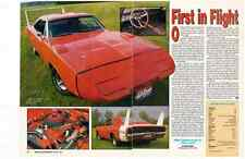 1969 DODGE CHARGER DAYTONA  440/375HP  ~   GREAT 2-PAGE ARTICLE / AD