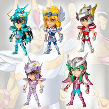 5pcs Lot Saint Seiya Unicorn Jabu Hyoga Shiryu Shun Figure Set Figurine No Box
