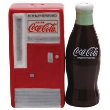 Coca Cola Vending Machine and Bottle Magnetic Salt & Pepper Shakers- Westland
