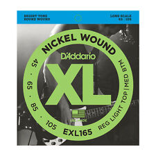 D'Addario ESXL165 Double Ball End Nickel Wound Bass Guitar Strings .045 -.105