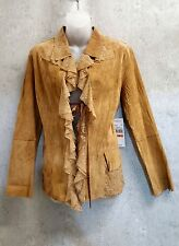 Karen Kane Suede Jacket Leather and Lace Blazer NWT! sz Small