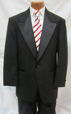58R Mens 3XL XXXL Black Traditional Tuxedo Jacket Wedding Prom Formal Tux Coat