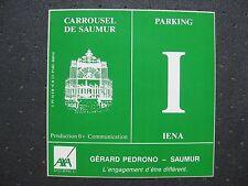 AUTOCOLLANT ANCIEN : CARROUSEL DE SAUMUR (place de parking)