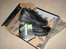 New Mens 9 D Thorogood Black Composite Safety Toe Oxford Uniform Shoes 804-