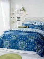 Ardor Sundari Teal Blue Pleated Percale KING Size Quilt Doona Cover Set