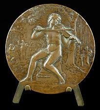 Medaille Jean-Henri Fabre Naturaliste 1910 F Sicard entomologiste insecte medal