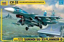 1:72 Zvezda #7297 - Sukhoi SU-33 Flanker D Russian Naval Fighter - New molds !